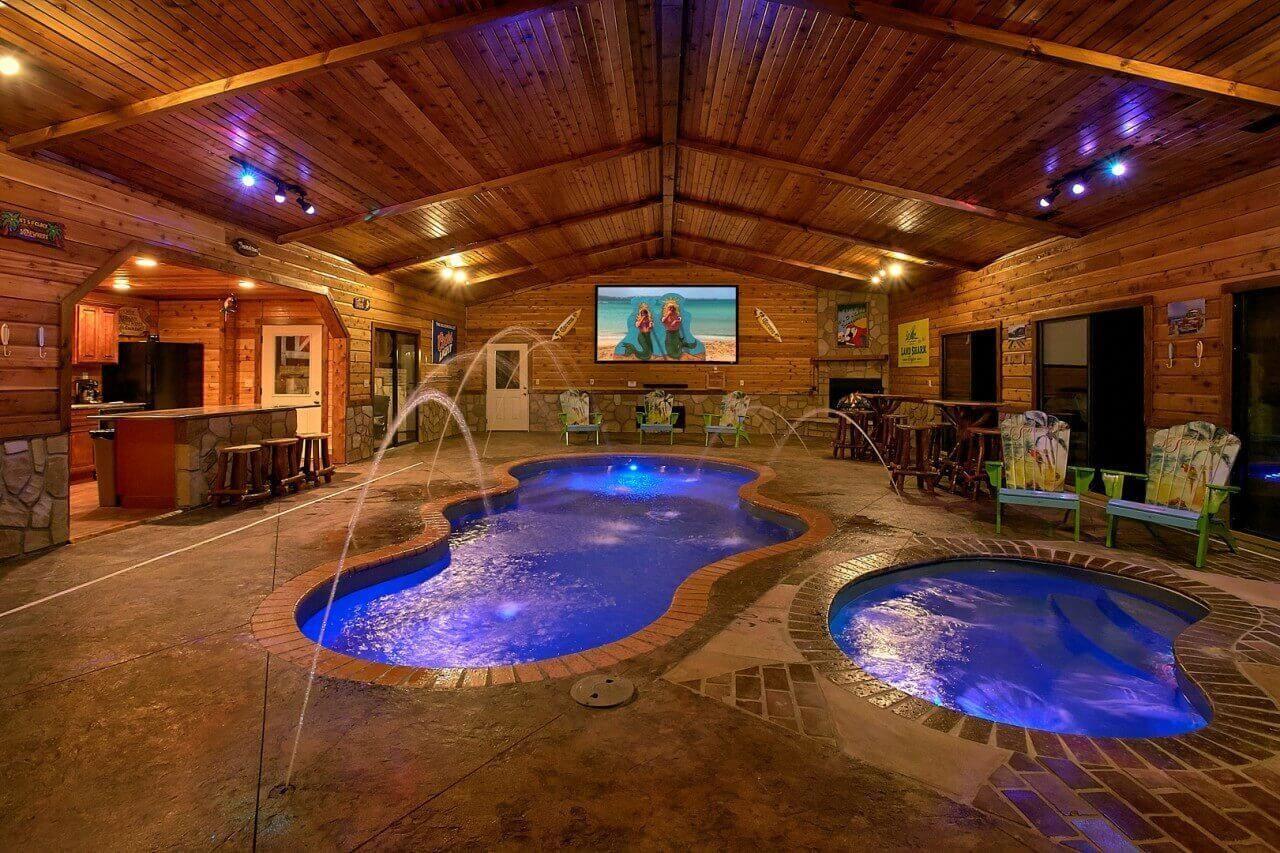 Mountain View Mansion Cabin In Gatlinburg Elk Springs Resort Besthomeinteriors Zwembaden Beautiful Modern
