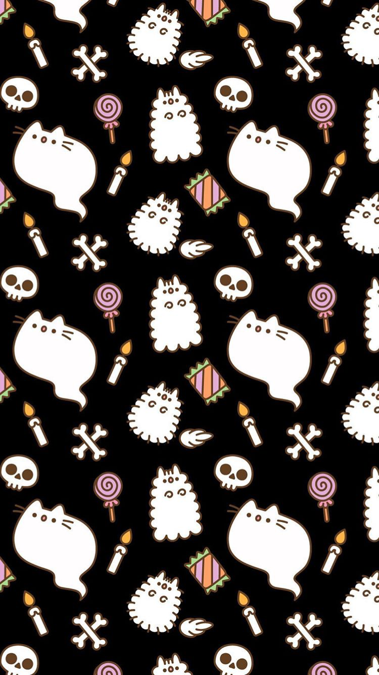 Pin By Lissel Francisco On Pantalla Halloween Wallpaper Cat Wallpaper Pusheen Cute