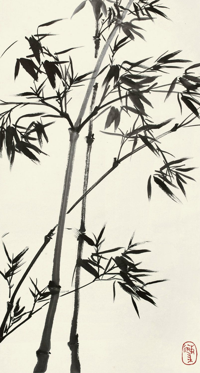 Chinese Ink Bamboo With Images Bamboo Art Painting Bamboo Art