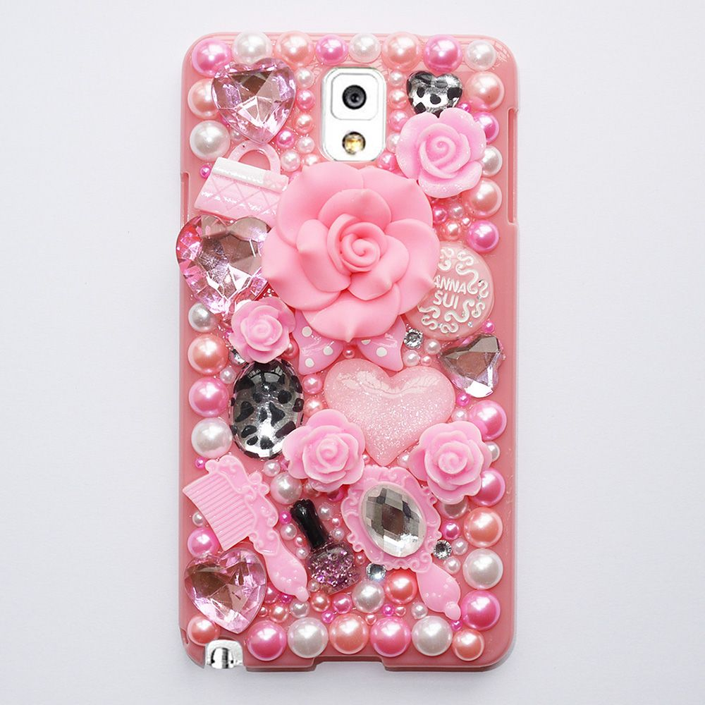 Hot Fashion Flower Pearl Crystal Plastic Case For Samsung Note 3 Hard Cover For Galaxy Note 3 Phone Cases Accessories Protector   New Gadgets Info