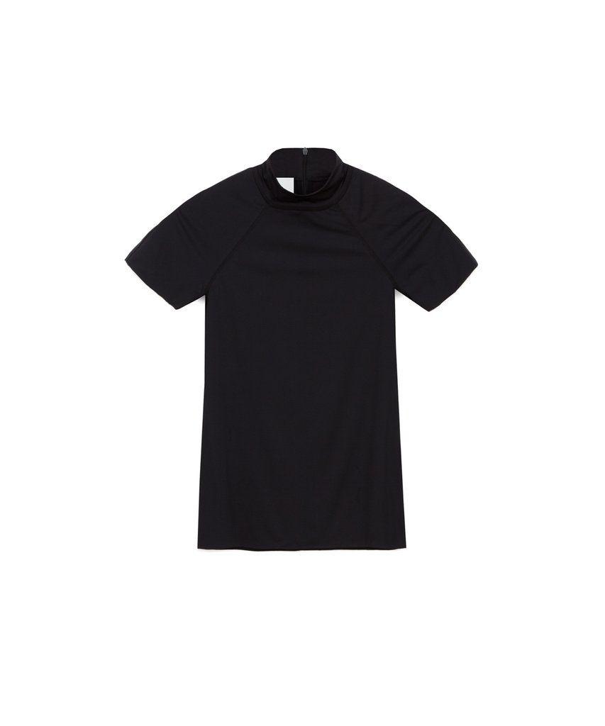 04365854925 UNA - Short sleeve stretch top - Black – Nanushka