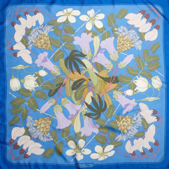 HERMES Scarf Flora Graeca by Niki Goulandris by Ninapollivintage, £198.00