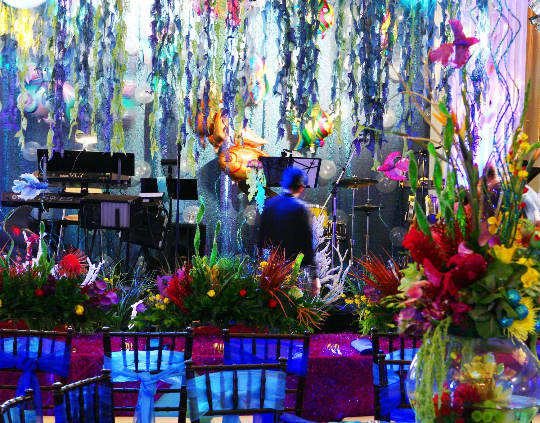 fake flowers for under water theme wedding   underwater