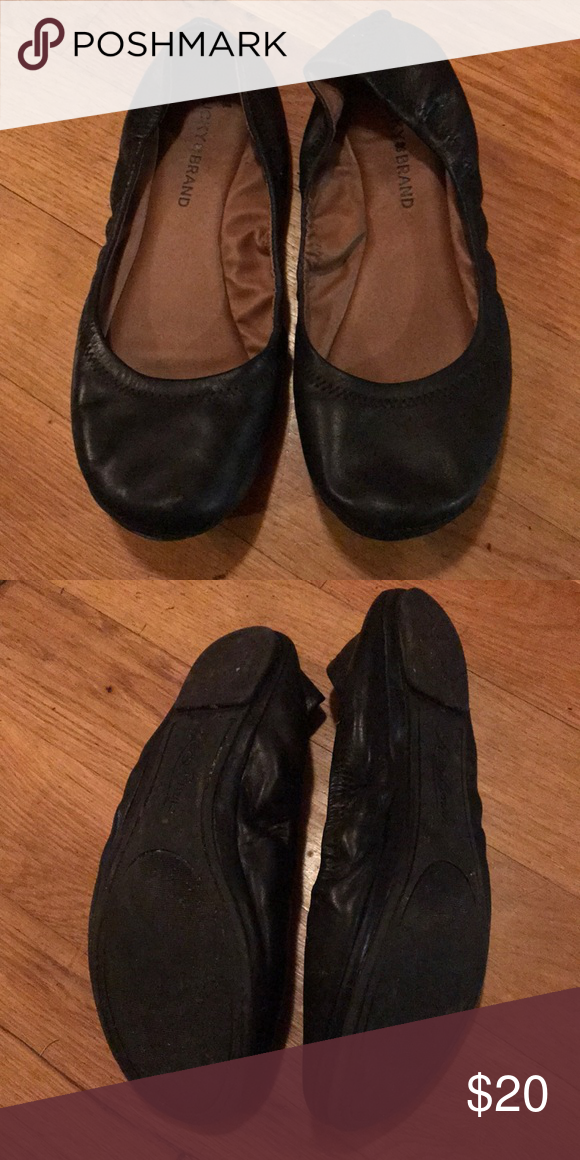 30e0c2555 Lucky brand flats Black leather flats lightly broken in. Lucky Brand Shoes  Flats & Loafers