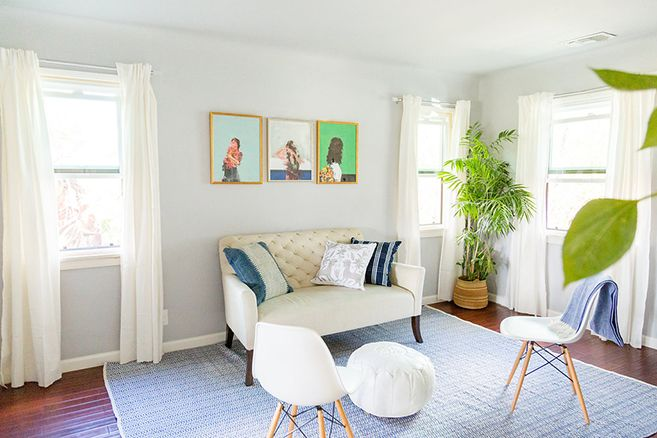 See our editor's living room makeover with Havenly