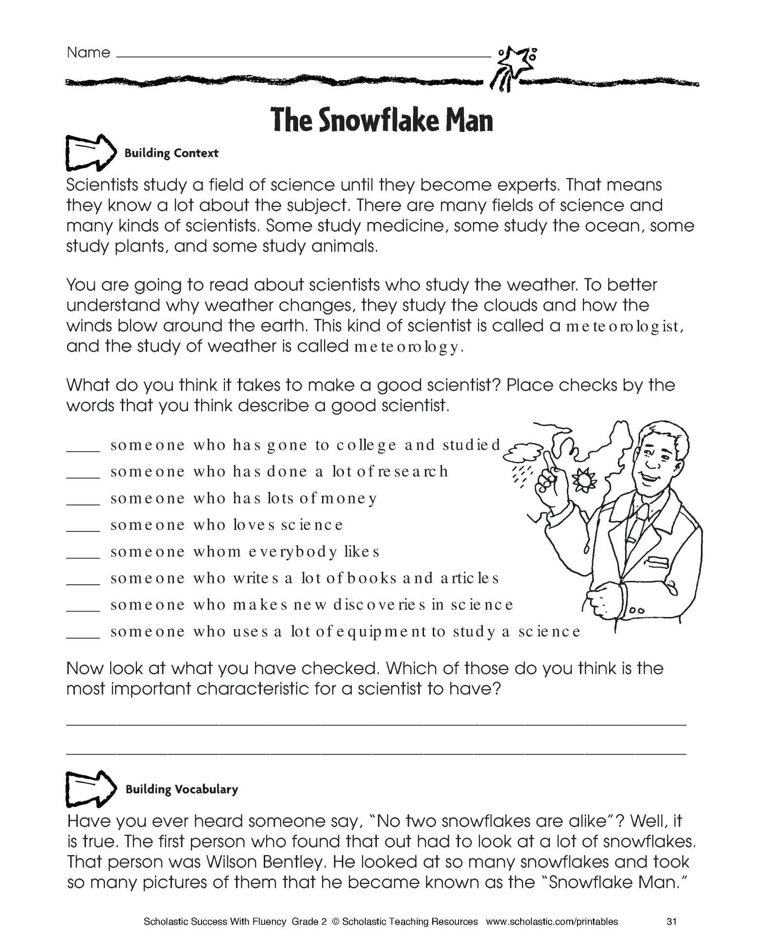 Free Preschool Kindergarten Worksheets Reading