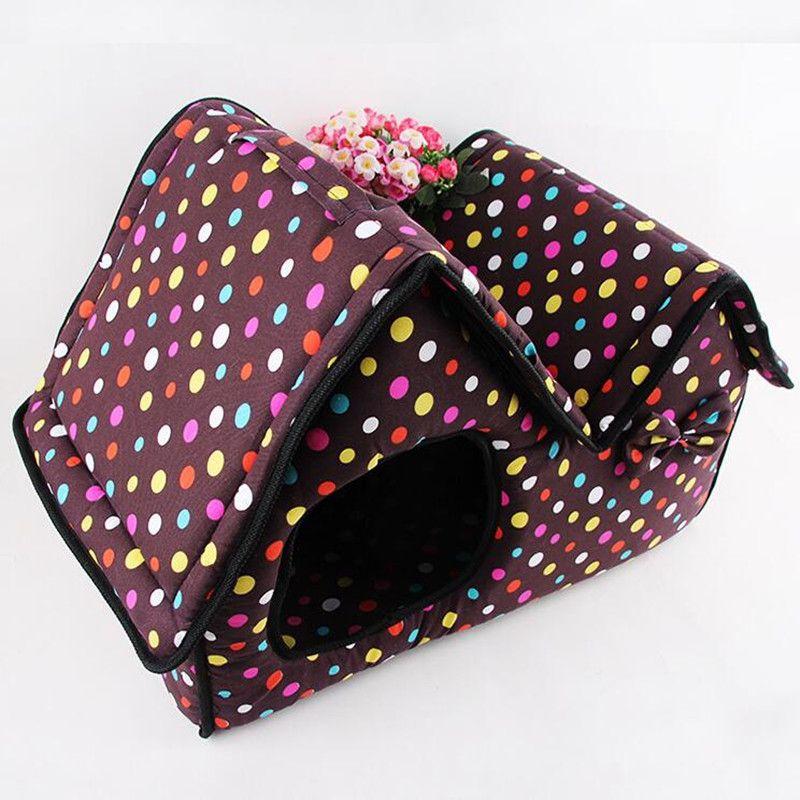 51x26x37cm pet house pet supply double top zipper dot warm dogs, Schlafzimmer design