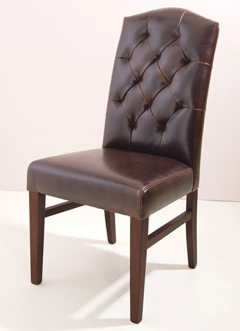silla de comedor tapizada rombos de bamb blau de madera de teca y piel color