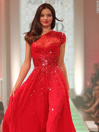 8e85957e4d0 Miranda Kerr in a design by Alex Perry during the David Jones S S 2012 13  Season Launch on August 14