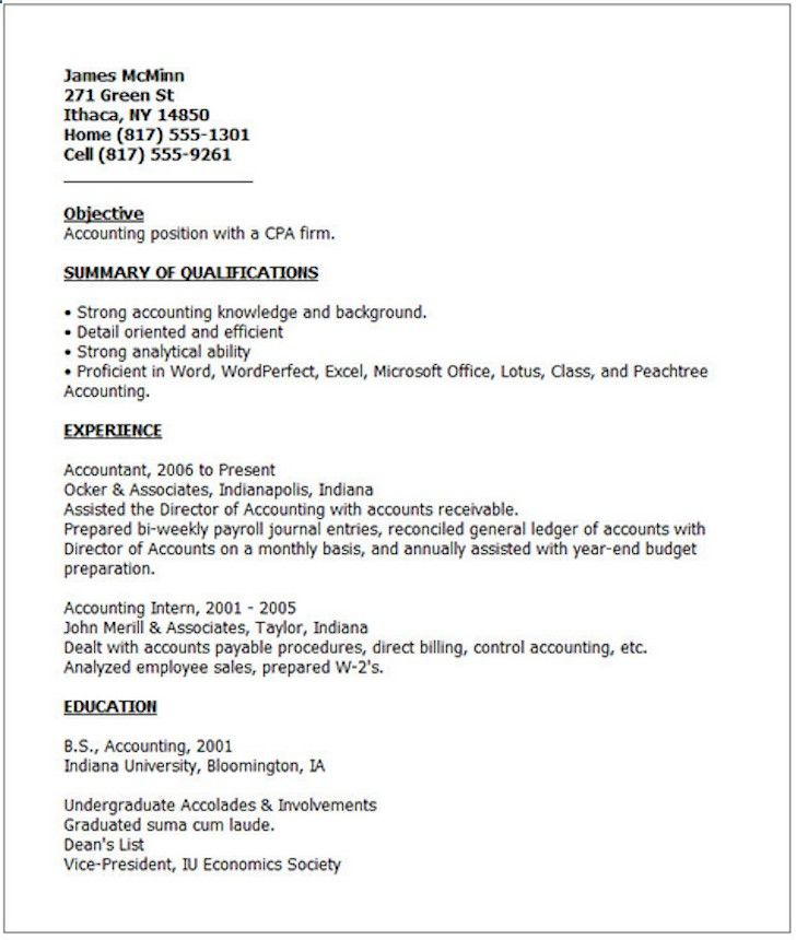 Bad Resume Example E Business In 2018 Pinterest Resume Examples