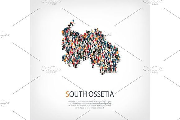people map country South Ossetia vector by 3D Tai on @Graphicsauthor - fresh world map with all countries vector
