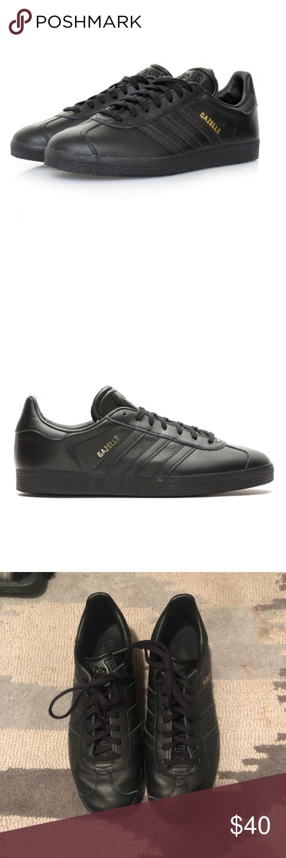 adidas gazelle black leather mens
