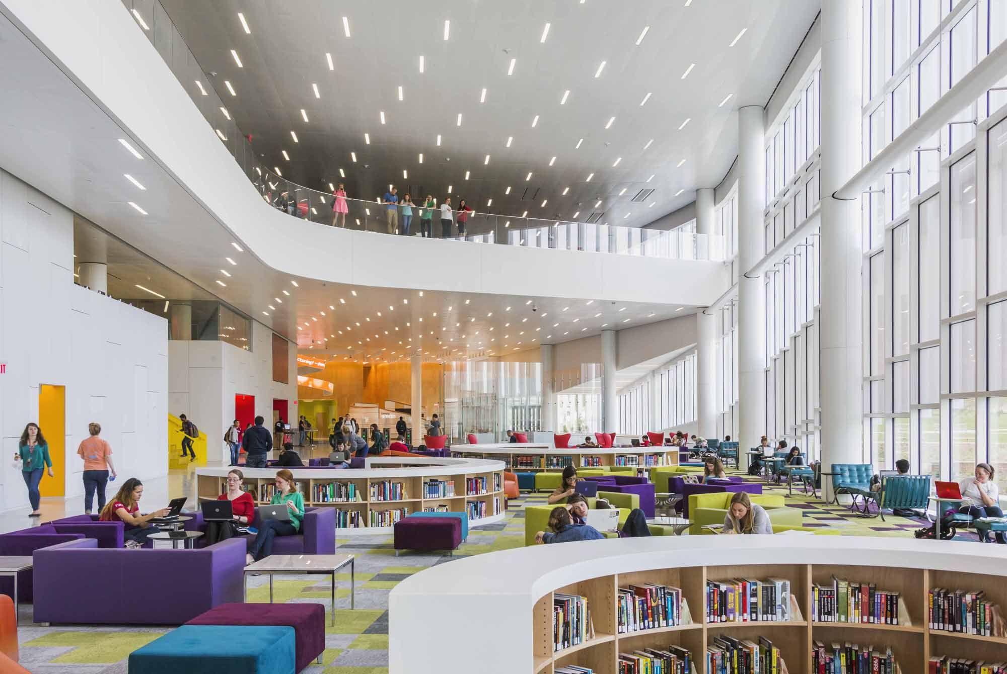 Jeff Goldberg Esto Interior Void In 2018 Library Design