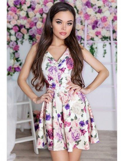 Rochie de damă LALETO - multicolor  69781d51f02
