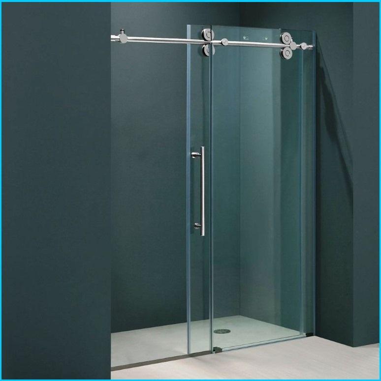 frameless sliding shower doors | HomeBuildDesigns | Pinterest ...