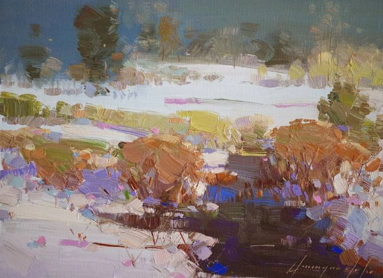 Riverside Landscape Oil Painting Impressionism One Of A Kind Oil Painting Landscape Oil Painting Nature Painting