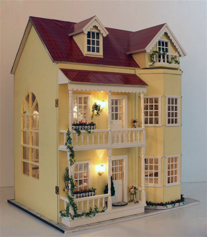 Fairy tale housetead iii diy wooden dollhouse lighting three storeyed house gift with light in - The dollhouse from fairy tales to reality ...