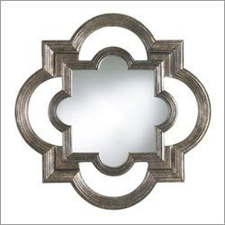 copper quatrefoil mirror