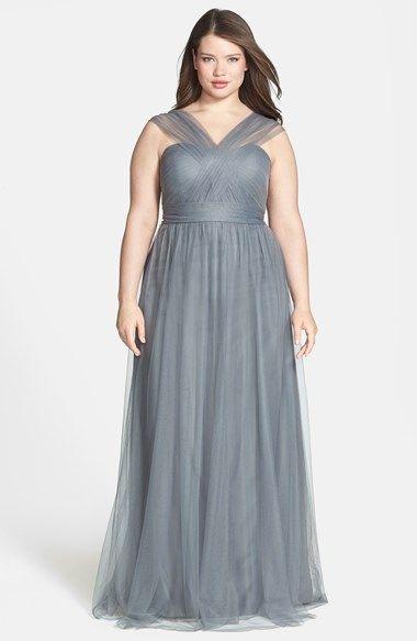 Jenny Yoo \'Annabelle\' Convertible Tulle Column Dress (Regular & Plus ...