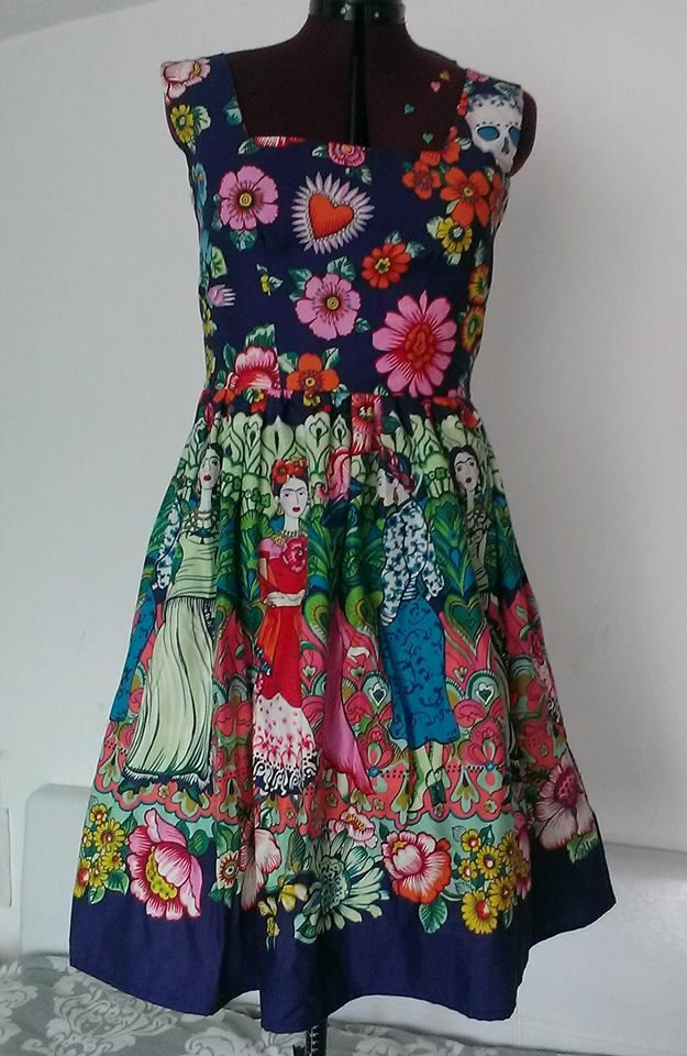 e9af36c84 Look at this stunning dress from the lovely Alexa's Boutique made from our  Alexander Henry Frida