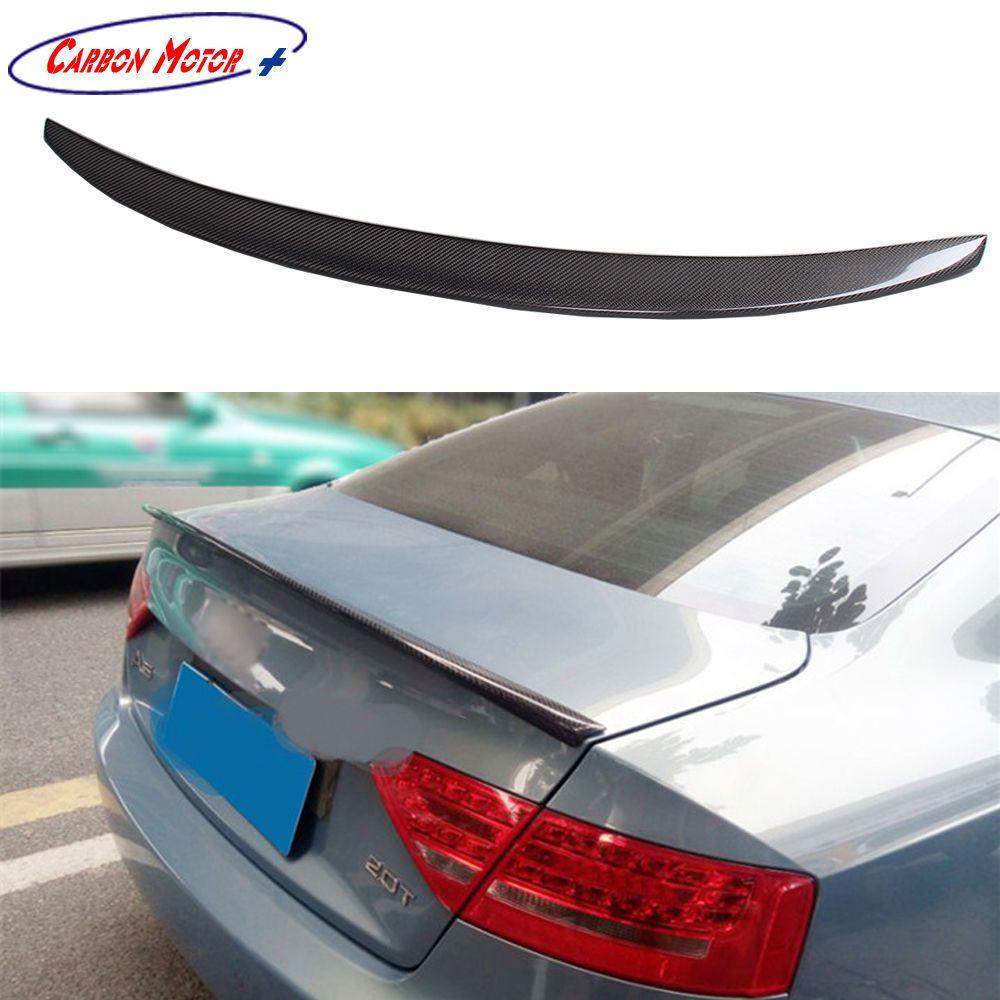 Carbon Fiber Rear Trunk Spoiler Boot Lid Wing For Audi A5