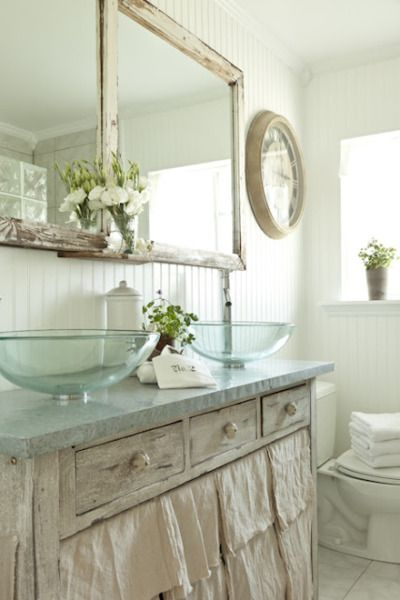 Shabby Chic Bathroom Love Those Sinks Home Splish Splash I Was