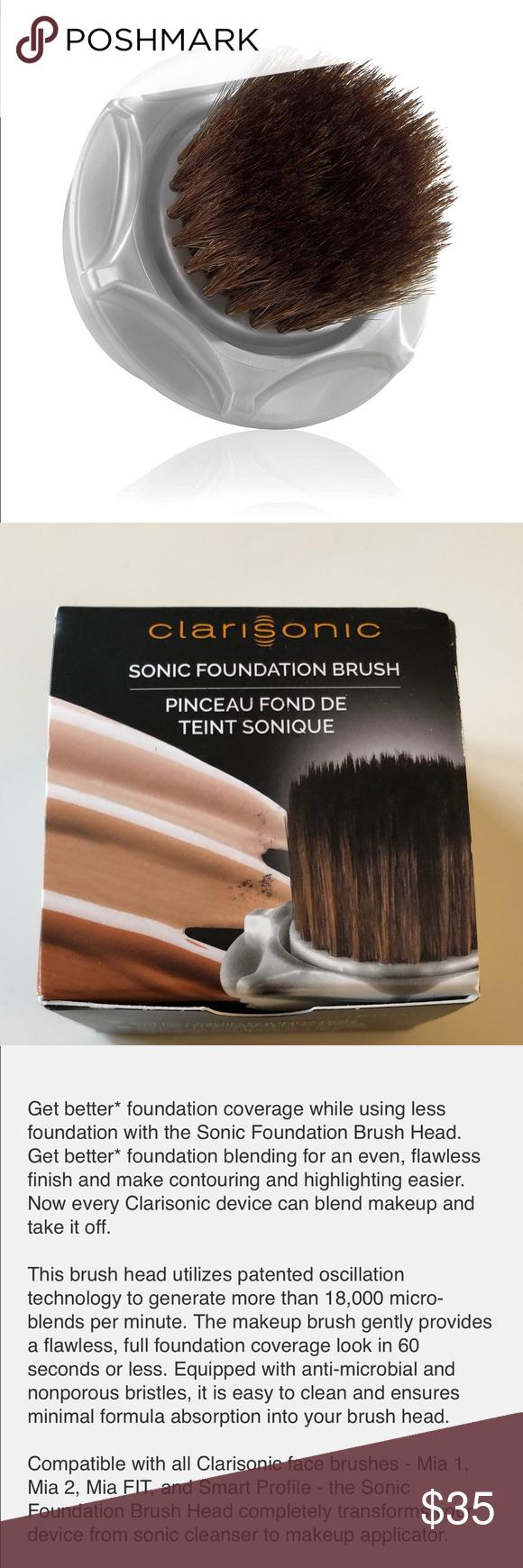 Clarisonic Sonic Foundation Brush Head NWT Foundation