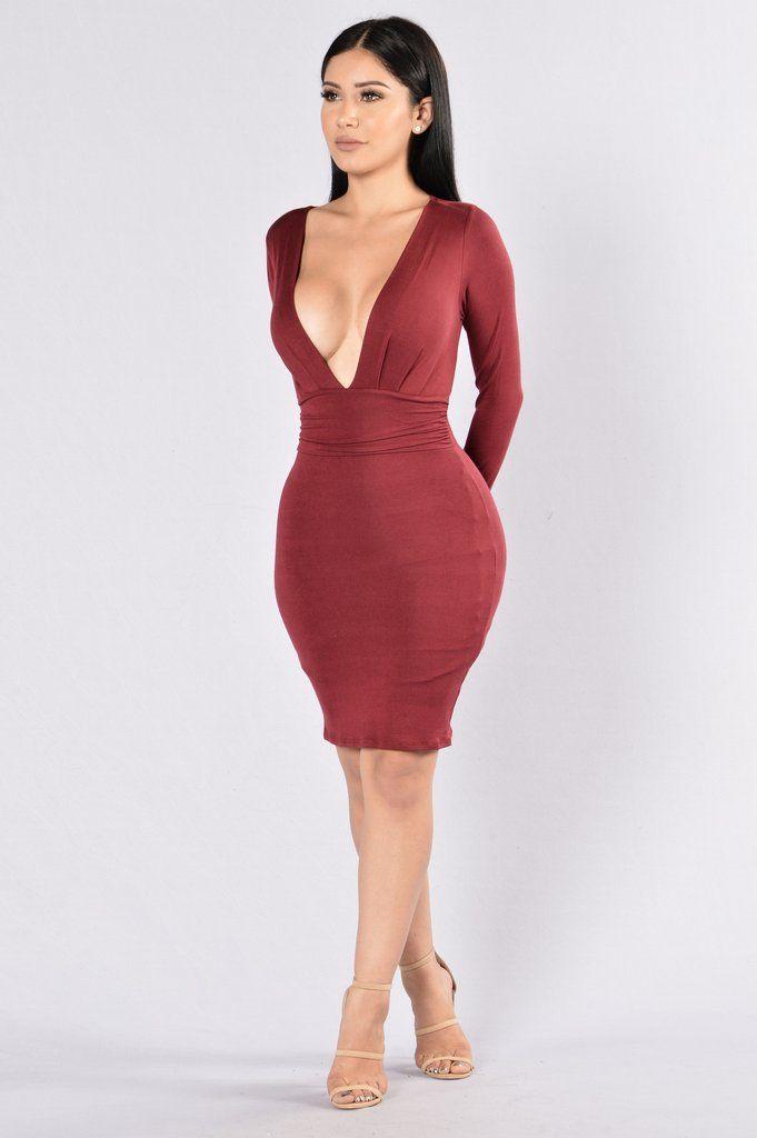 63077faa0f7 Good Vibrations Dress - Wine