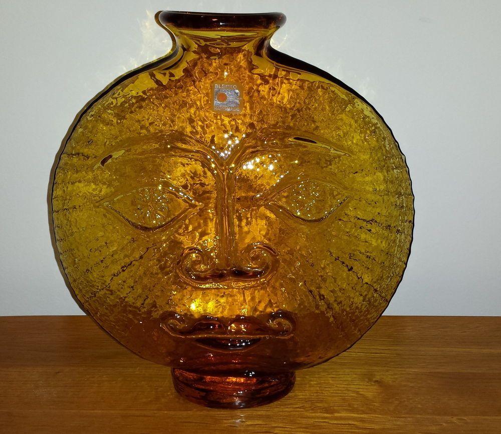 Blenko glass mid century modern sun face decanter vase wayne blenko glass mid century modern sun face decanter vase wayne husted reviewsmspy