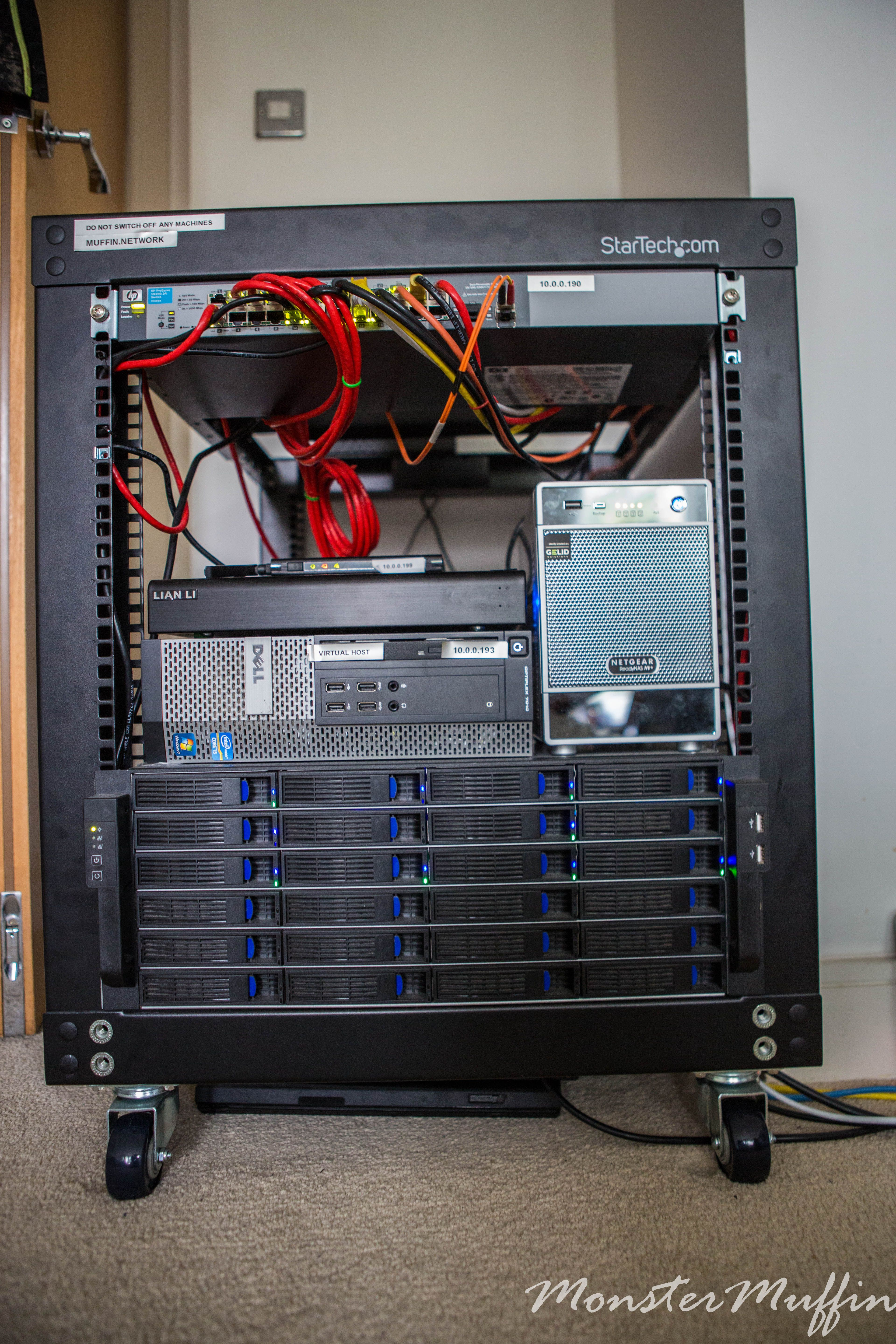 Home Fileserver Rack From Top To Bottom 1in Ap Ru