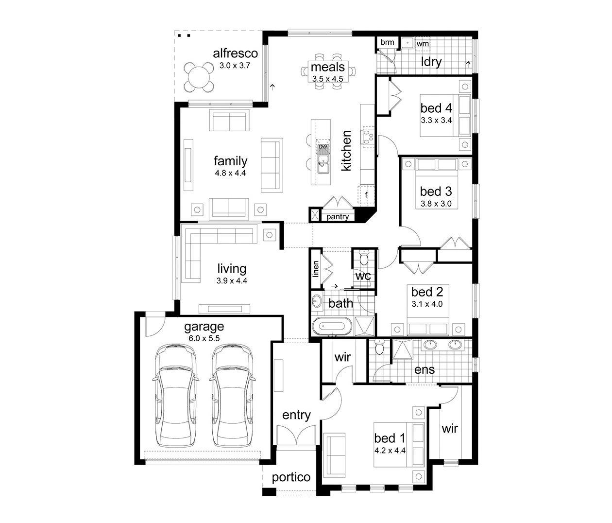 Harvard 271 Dennis Family Homes Floor Plans House Design Minimalist Home