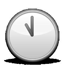 Les Emoticones Au Format Png Grand Format Clock Face Emoji Clock