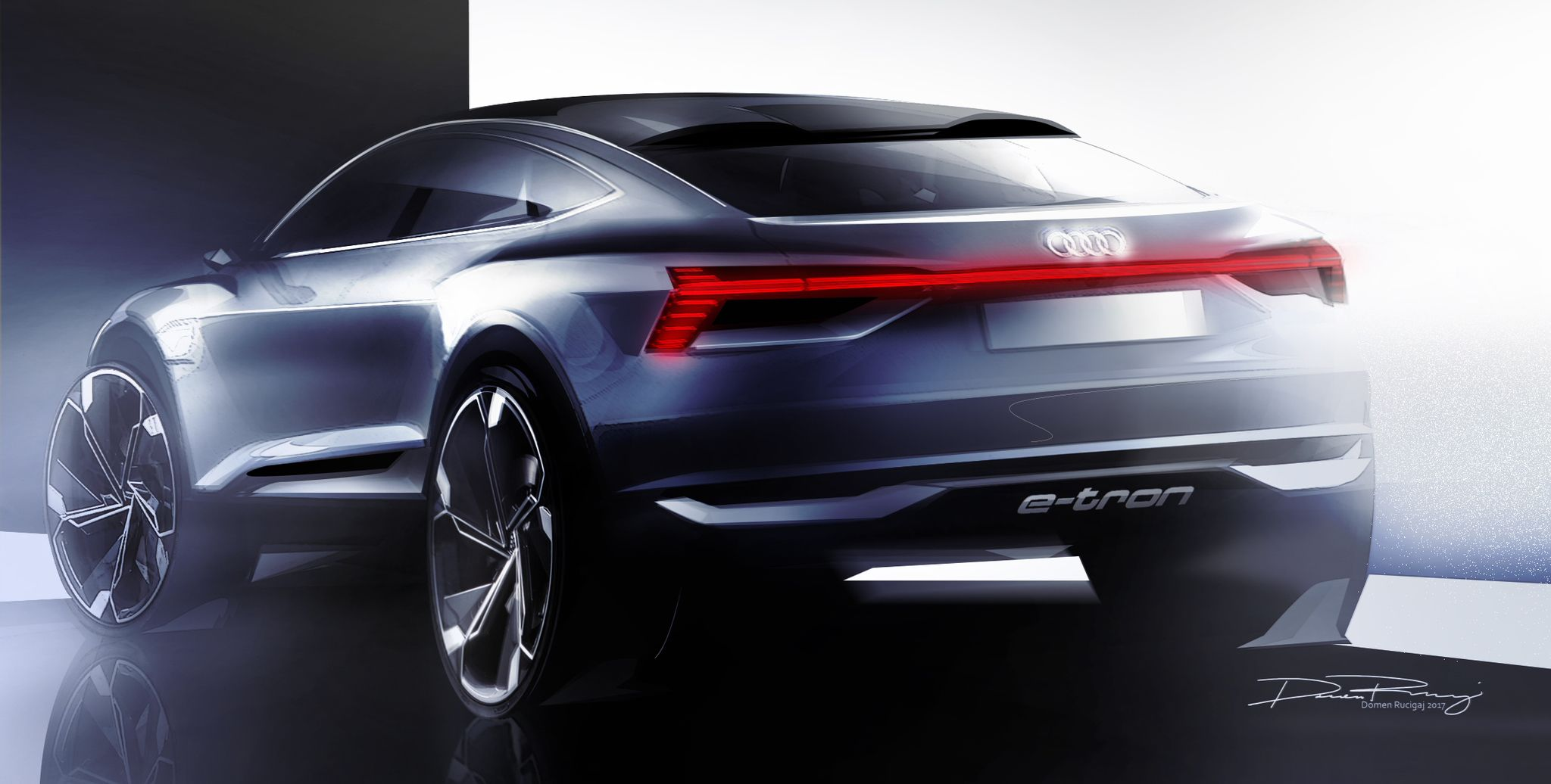 Audi is giving us a better look at the e tron sportback concept it has in store for the shanghai auto show this week