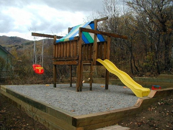 pea gravel playground surfacing backyard playground retaining wall with pea gravel for the home