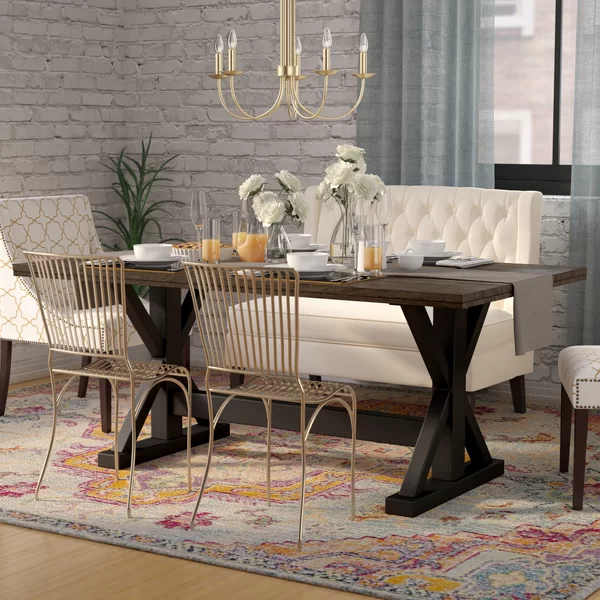 Landrum Counter Height Solid Wood Dining Table In 2020 With