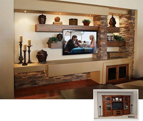 Media Niche Furniture Home Living Room Modern