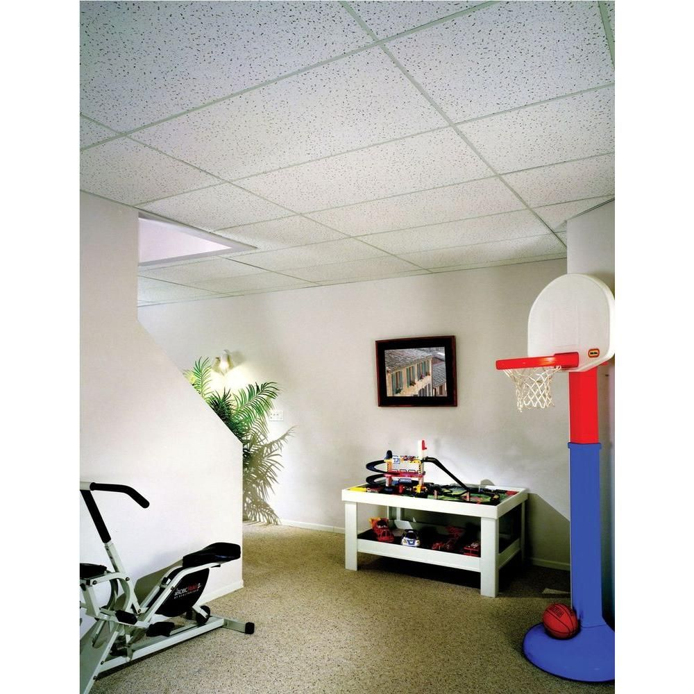 Usg Ceilings 2 Ft X 4 Ft Radar Lay In Ceiling Panel 8 Pack R2310 The Home Depot Ceiling Tiles Ceiling Panels Drop Ceiling Tiles