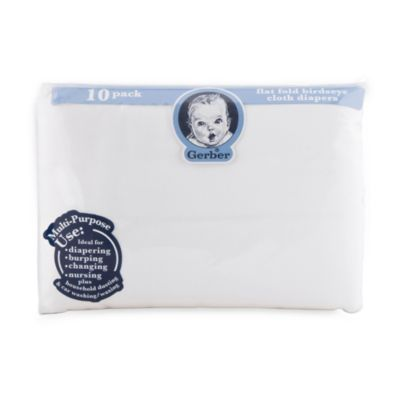To use as burp clothsGerber® Birdseye 10-Pack Flatfold Cotton Diaper - buybuyBaby.com