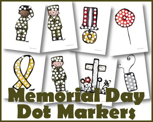 Free Memorial Day Dot Marker Printable