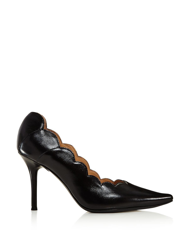 6175097b2fdd Chloé Women s Lauren Scalloped Leather High-Heel Pumps in 2019