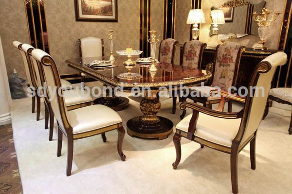 2015 Solid Wood Antique Dining Room Furniture 0063italian Style View