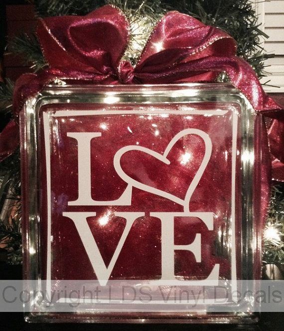 Love Valentine S Day Vinyl Lettering For Glass By Ldsvinyldecals