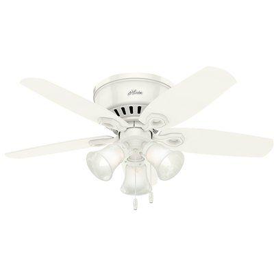 """Hunter Fan 42"""" Builder Low Profile 5 Blade Ceiling Fan"""