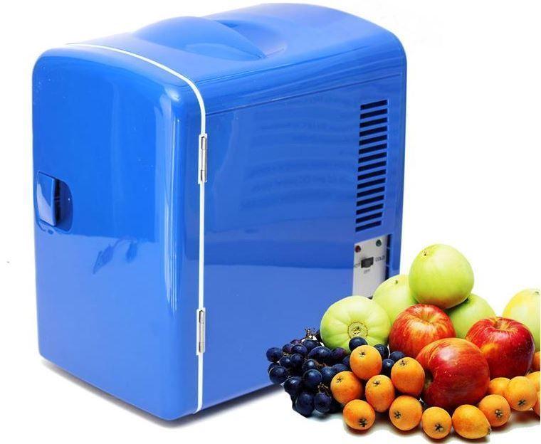 Mini Car Refrigerator Portable 12V Fridge 4L Travel Warmer