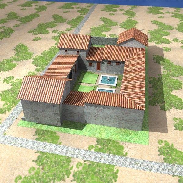 3d max roman villa rustica Barn house design, Roman