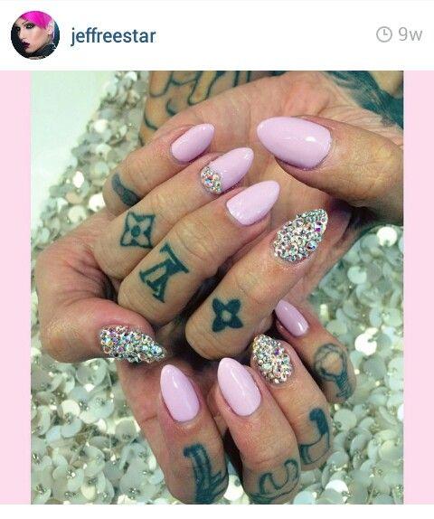 Jeffree Star Nails Bedazzled Nails Star Nails Stylish Nails