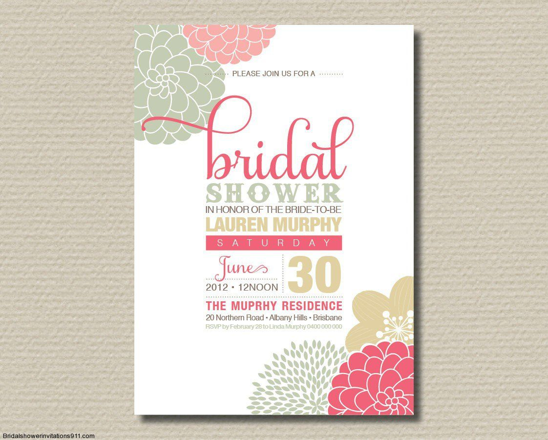 Bridal shower invitation wording for shipping gifts for How to make bridal shower invitations