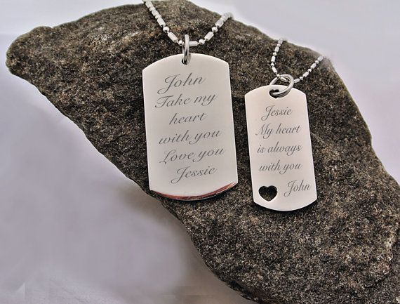 Stainless Steel His And Hers Couples Dog Tag By Aandlengraving