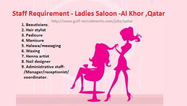 Staff Requirement Ladies Saloon Al Khor Qatar Saloon