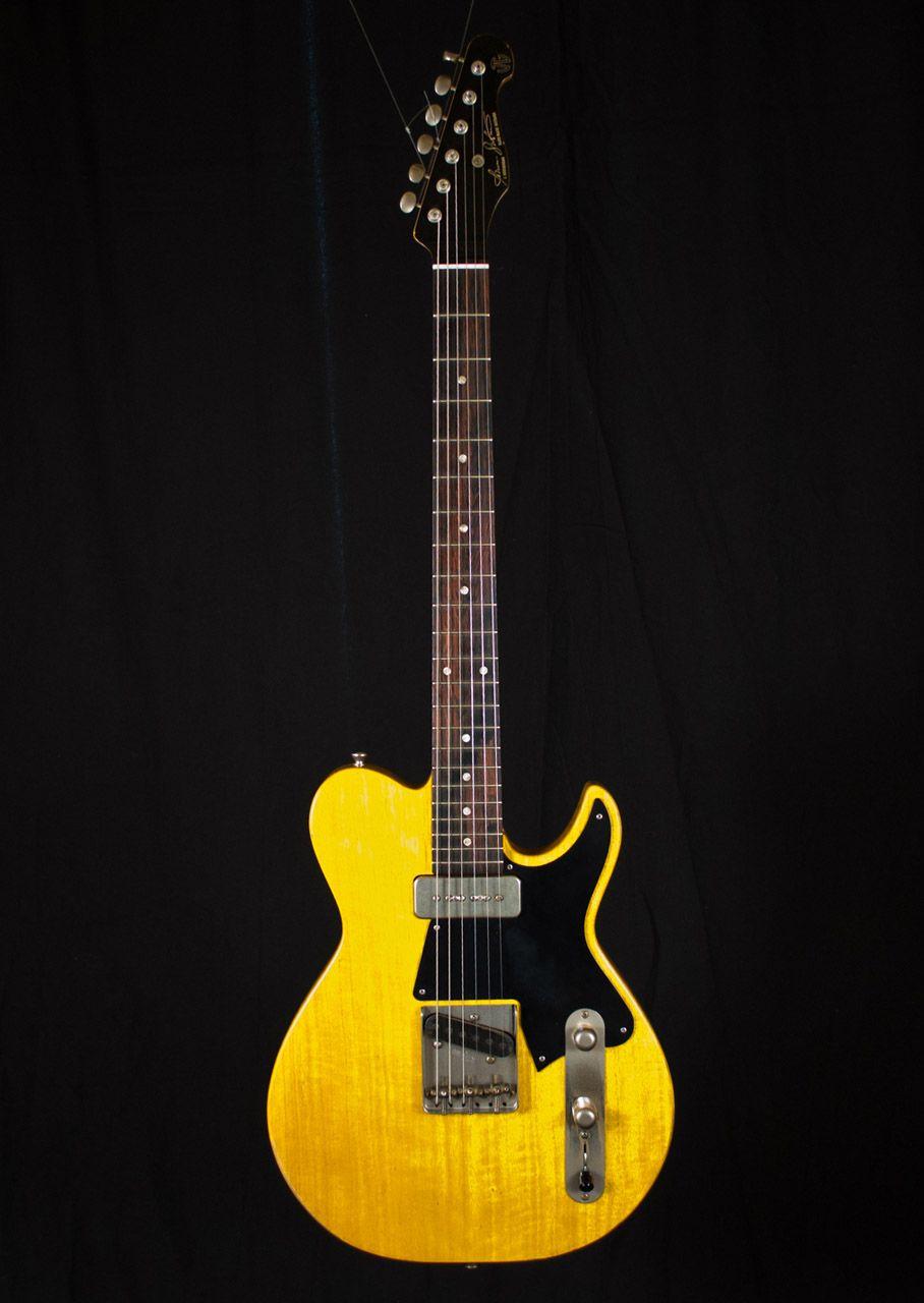 Gustavsson Vintage Yellow Fullerblaster Cool Electric Guitars Cool Guitar Guitar Design